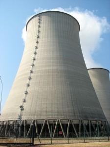 Tour de refroidissement de la centrale nucléaire de Belleville