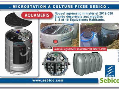 Nouvel agrément pour la micro-station Sebico Aquameris