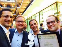 Eloy Water remporte le prix belge de l'énergie et de l'environnement 2014