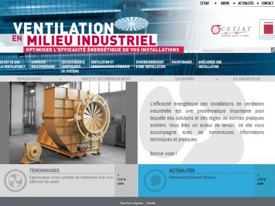 L'Ademe lance un nouveau site sur la ventilation industrielle