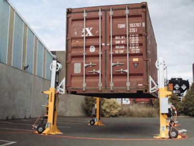 BISON Group lance sa nouvelle solution automatisée de levage de conteneurs C-Lift A32