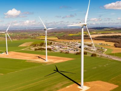 En France, une puissance éolienne de 606,5 MW a été raccordée au premier semestre 2018