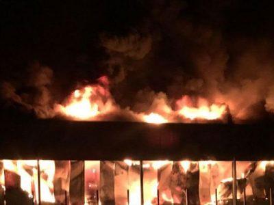 L'usine agroalimentaire Toupnot de Lourdes ravagée par un incendie