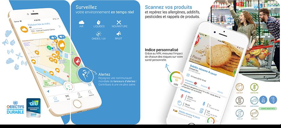 Application Meersens disponbile sur l'App Store et le Play Store