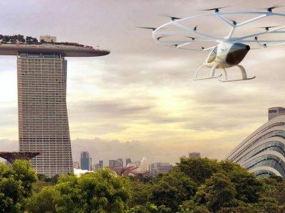 Singapour – Démonstration d'un taxi volant électrique